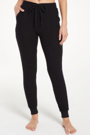 z supply Black Marled Joggers - Front full body