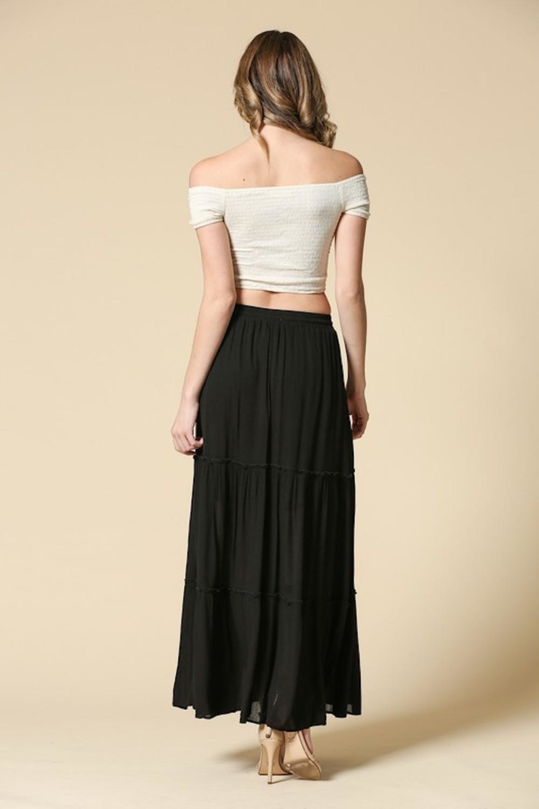 Illa Illa Black Maxi Skirt - Side Cropped Image