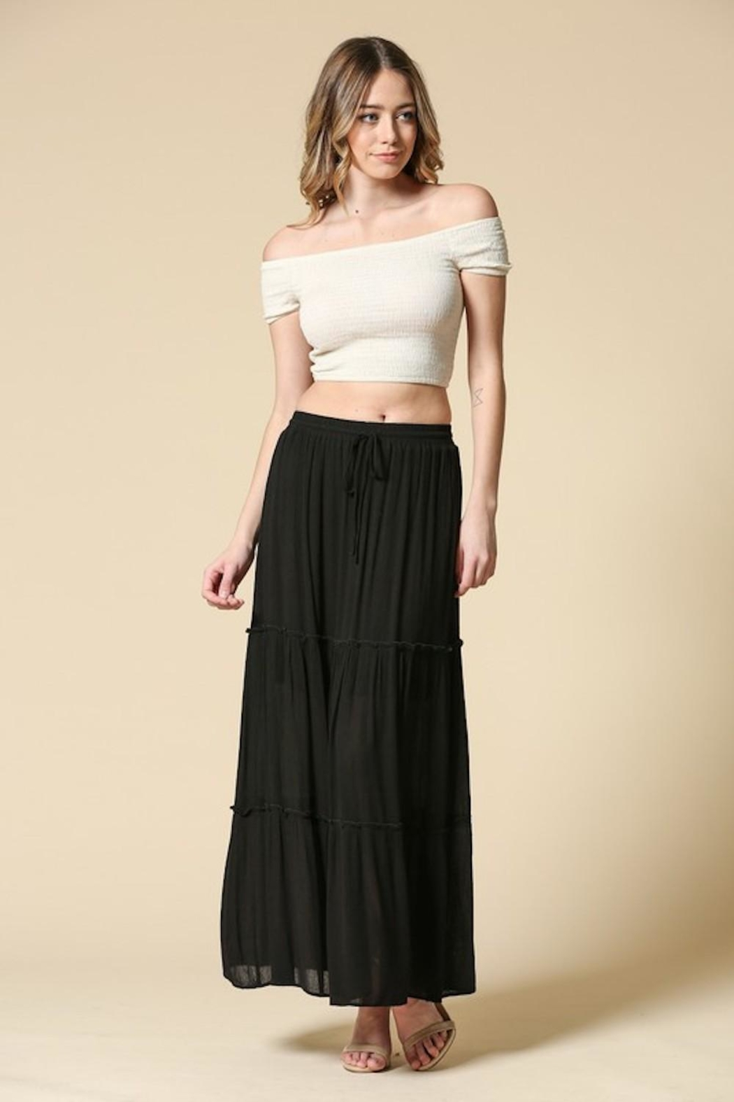 Illa Illa Black Maxi Skirt - Main Image