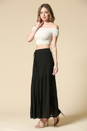 Illa Illa Black Maxi Skirt - Front full body