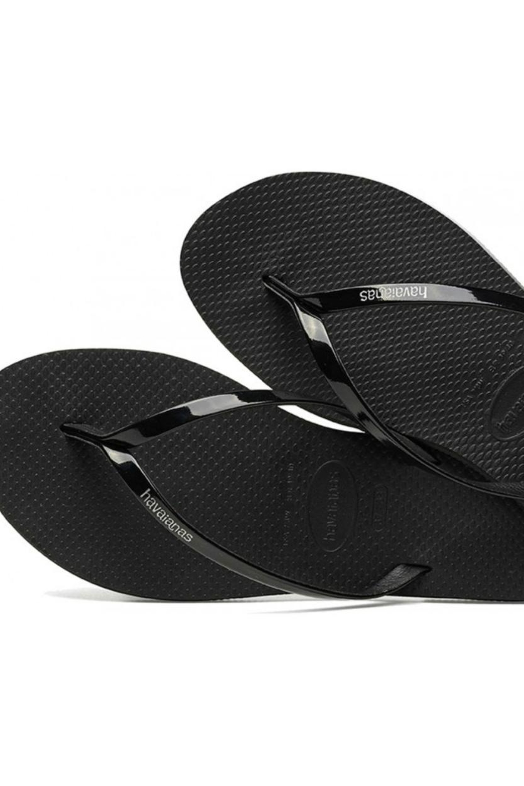 Havaianas Black Metallic Flipflops - Main Image
