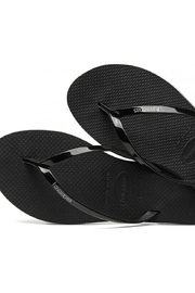 Havaianas Black Metallic Flipflops - Front cropped