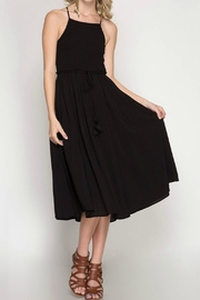 She + Sky Black Midi Dress - Product Mini Image