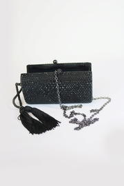 Dominique Black Minaudiere With Tassel - Product Mini Image