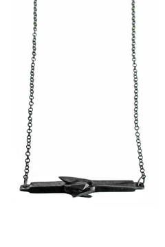 Malia Jewelry Black Mineral Necklace - Product List Image