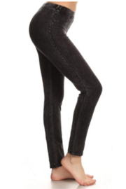 T Party Black Mineral Wash Jeggings - Product Mini Image