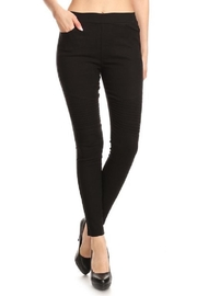 JVINI Black Moto Jeans - Product Mini Image