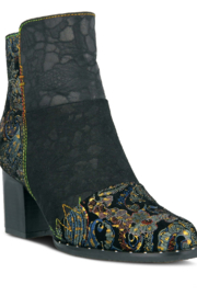 Spring Step  Black multi bootie - Front cropped