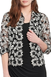 Nic + Zoe Black multi lace jacket, 3/4 sleeves. - Product Mini Image