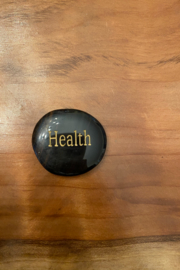 tesoro  Black Obsidian Health Palm Stone - Product Mini Image
