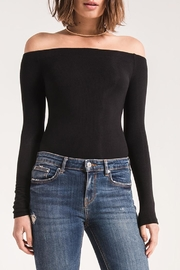 z supply Black Off-Shoulder Top - Product Mini Image