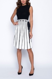 Frank Lyman Black & Off White Knit Dress - Product Mini Image