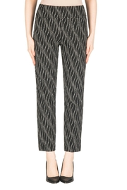 Joseph Ribkoff Black-Off-White Pant - Product Mini Image
