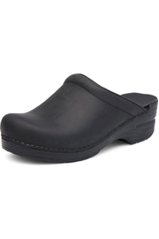 Dansko Black Oiled-Leather Clog - Product Mini Image