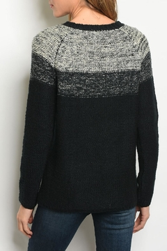 Sweet Claire Black Ombre Sweater - Alternate List Image