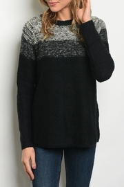 Sweet Claire Black Ombre Sweater - Product Mini Image