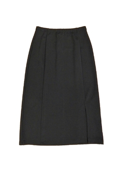 Essentials Black One-Slit Skirt - Product List Image