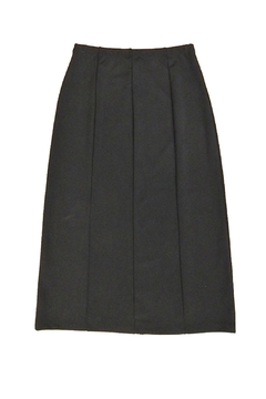 Essentials Black One-Slit Skirt - Alternate List Image