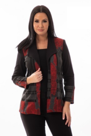 Bali Corp Black Open Front Blazer - Front cropped