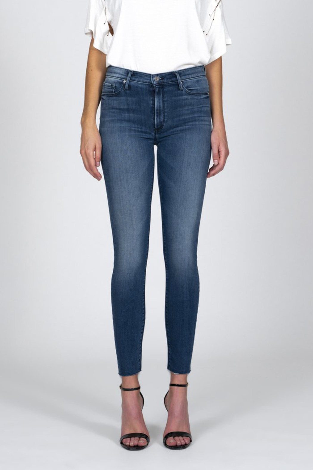 Black Orchid Denim BLACK ORCHID CARMEN HIGH RISE ANKLE FRAY JEAN - Front Full Image