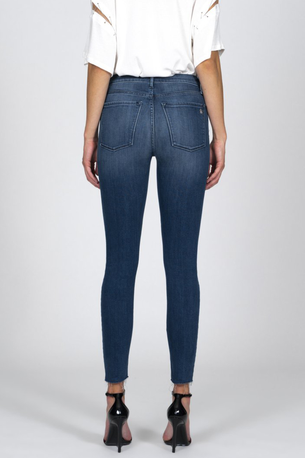 Black Orchid Denim BLACK ORCHID CARMEN HIGH RISE ANKLE FRAY JEAN - Back Cropped Image