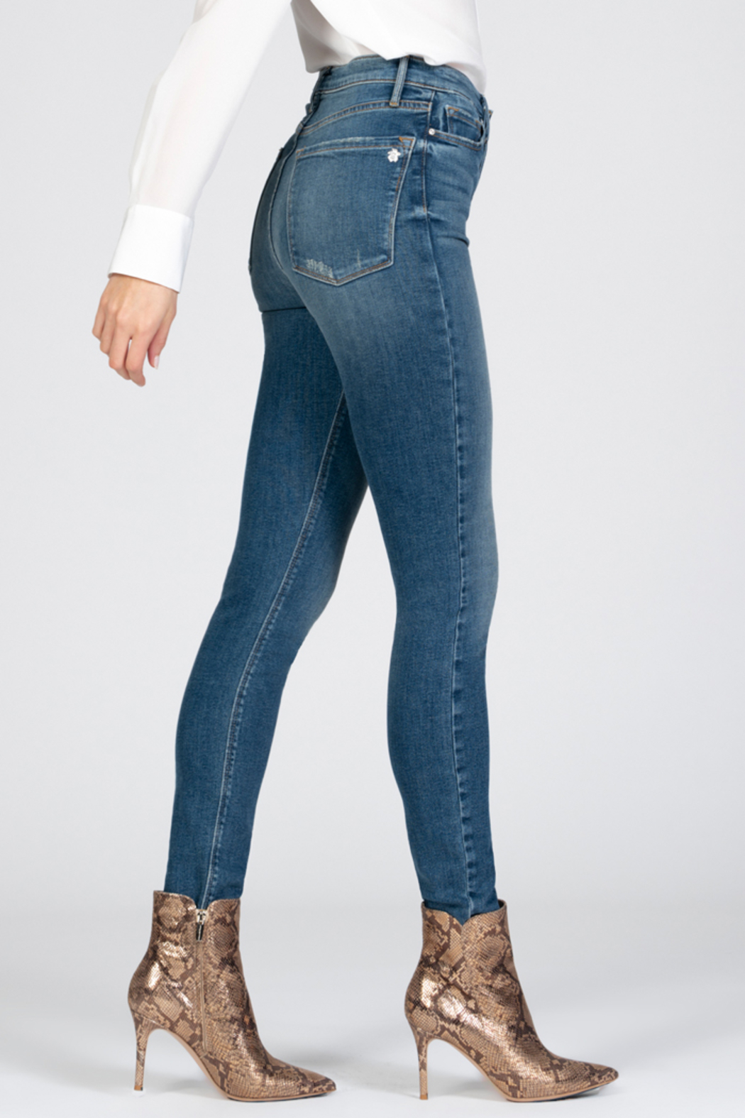 Black Orchid Denim Black Orchid Christie Buttonfly High Rise Skinny Jean - Side Cropped Image