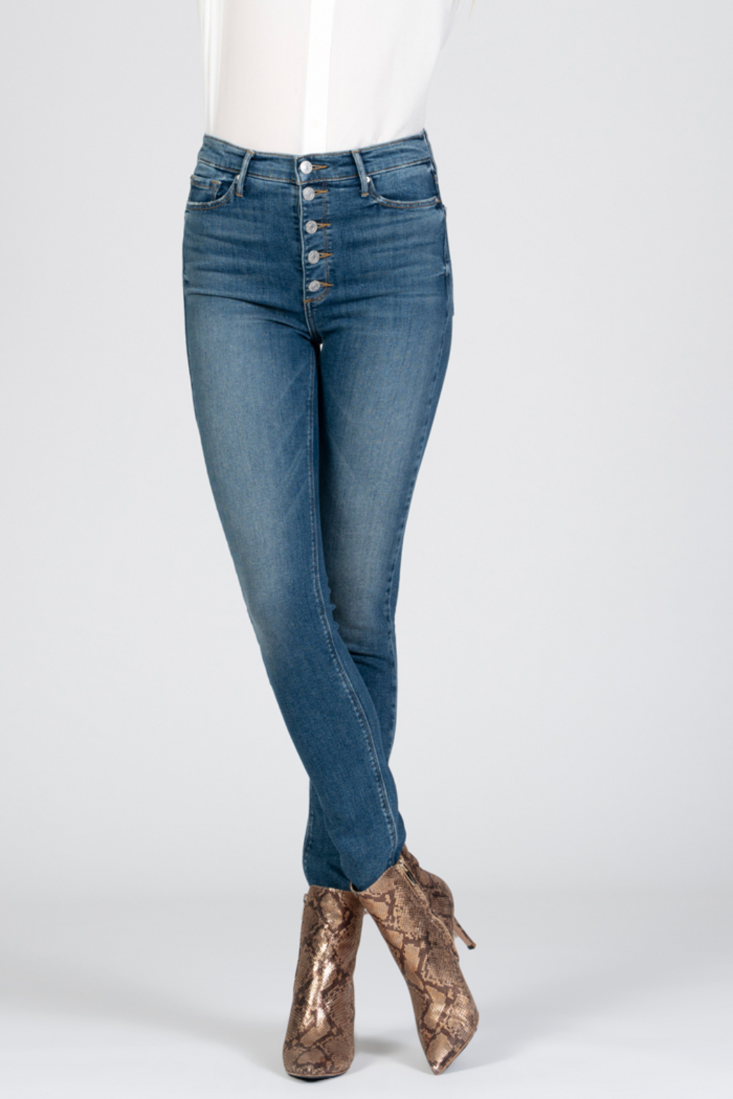 Black Orchid Denim Black Orchid Christie Buttonfly High Rise Skinny Jean - Main Image