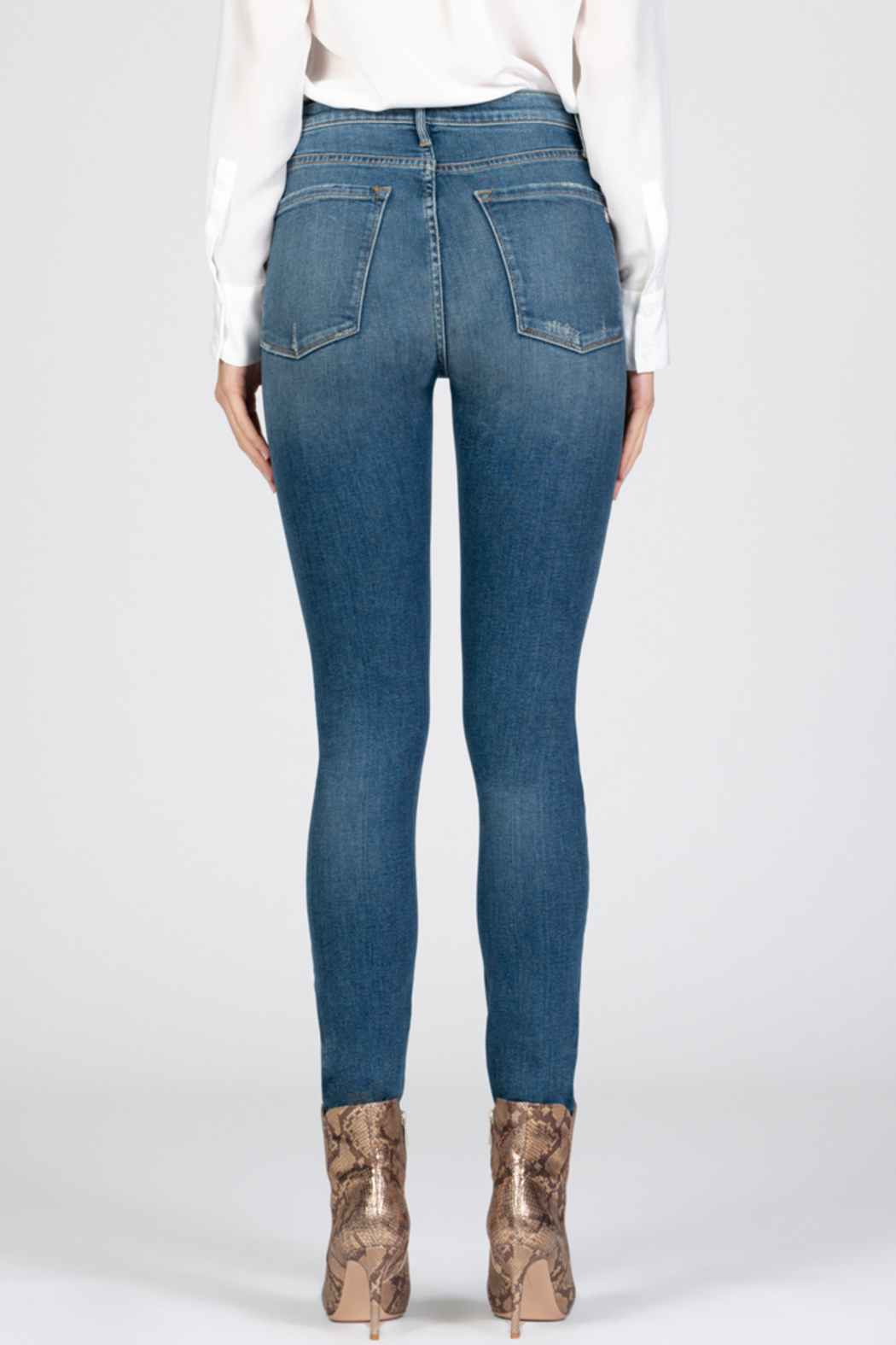 Black Orchid Denim Black Orchid Christie Buttonfly High Rise Skinny Jean - Back Cropped Image