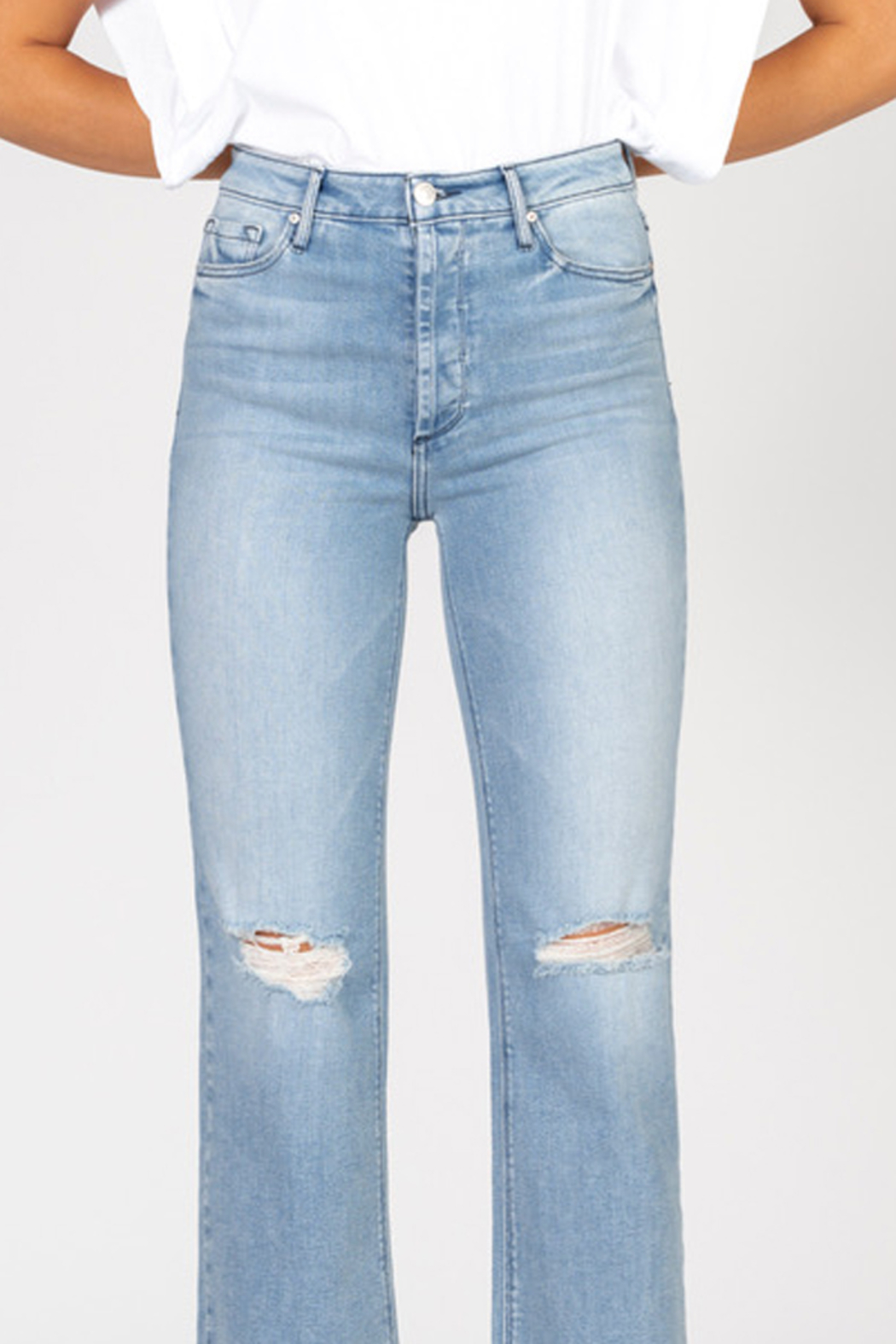 Black Orchid Denim BLACK ORCHID MARISA HIGH RISE STRAIGHT JEAN - Front Full Image