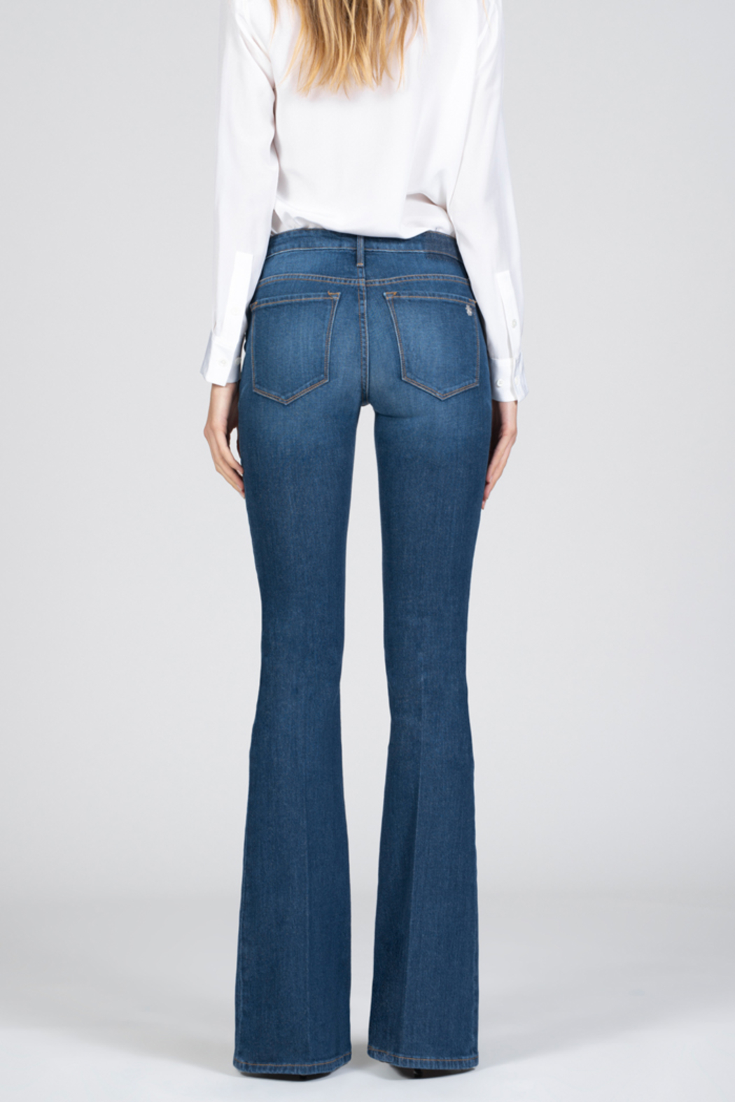 Black Orchid Denim Black Orchid Skinny Flare Jean - Side Cropped Image