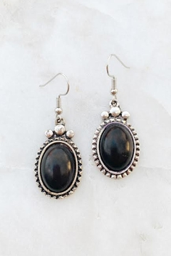 Shoptiques Product: Black Oval Earrings