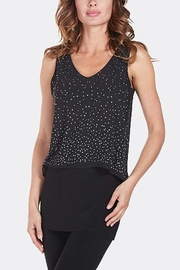 Frank Lyman Black Overlay Embellished Top - Product Mini Image