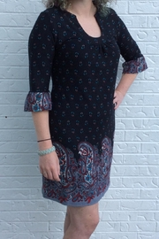 Aryeh Black Paisley Dress - Front cropped