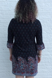 Aryeh Black Paisley Dress - Side cropped