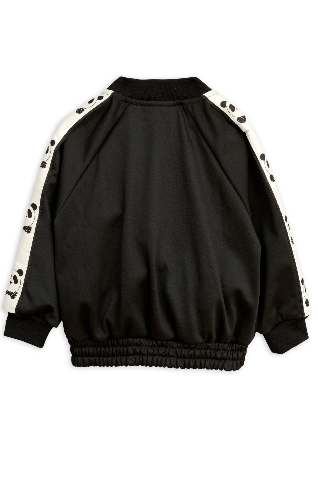 Mini Rodini Black Panda Jacket - Side Cropped Image
