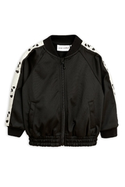 Mini Rodini Black Panda Jacket - Front cropped