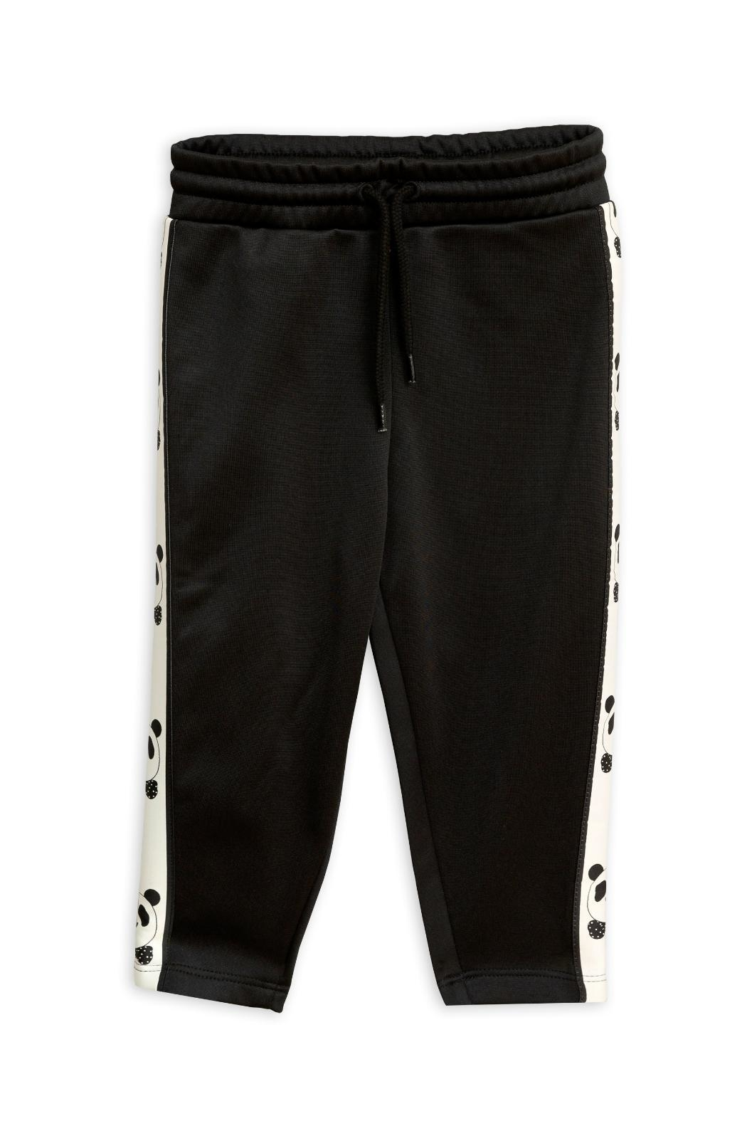 Mini Rodini Black Panda Pants - Main Image