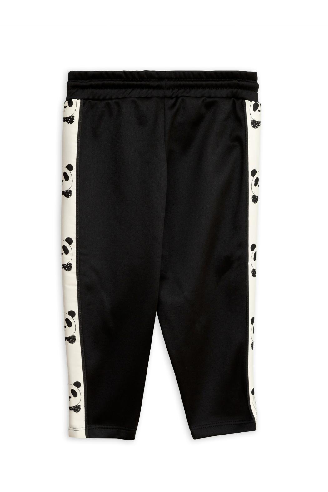 Mini Rodini Black Panda Pants - Front Full Image