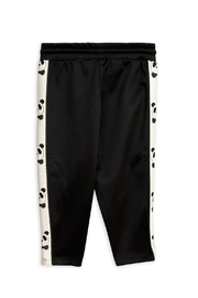 Mini Rodini Black Panda Pants - Front full body