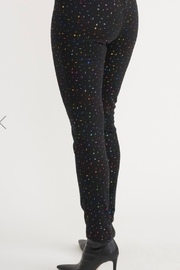 Joseph Ribkoff  black pant with multicolor pattern - Side cropped