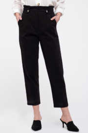 Mine and E&M Black Paperbag Pants - Front cropped