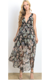 Hommage Black Pastel Flower Dress - Product Mini Image