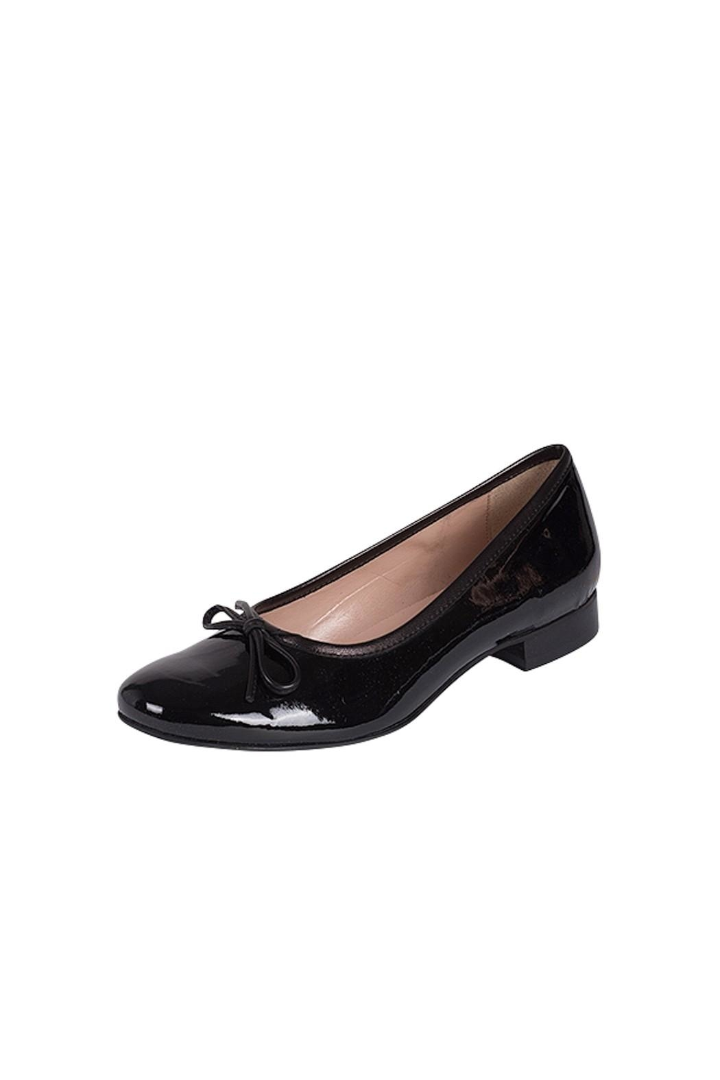 Pascucci Black Patent-Leather Ballerina - Front Full Image