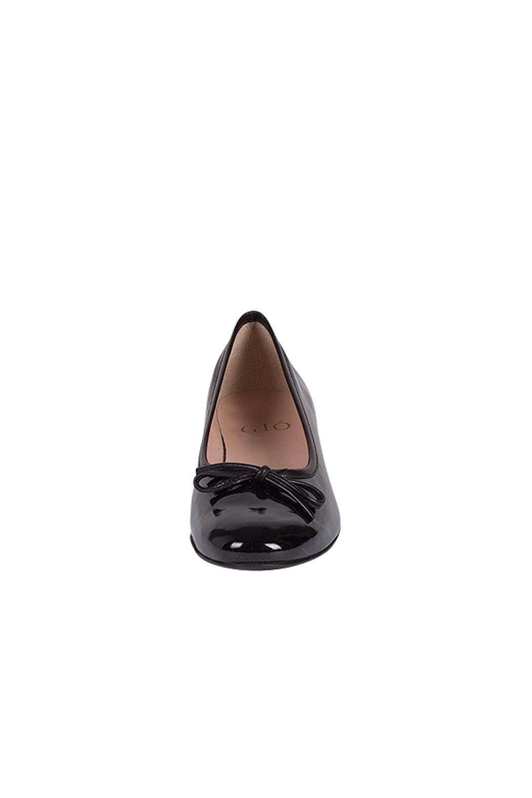 Pascucci Black Patent-Leather Ballerina - Side Cropped Image