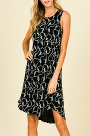 Miss Darlin Black Pattern Dress - Product Mini Image