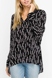 Lush Black Patterned Blouse - Product Mini Image