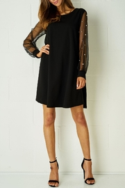 frontrow Black Pearl-Embellished Dress - Product Mini Image