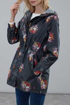 Joules Black Peony rain coat - Alternate List Image