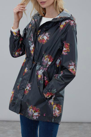 Joules Black Peony rain coat - Product Mini Image