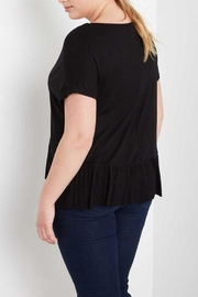 MaiTai Black Peplum Tee - Back cropped